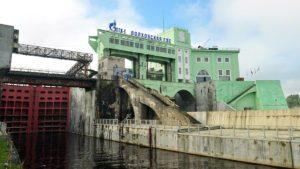 общий вид Волховской ГЭС
