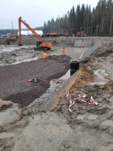 подсыпка из щебня для бетонной подготовки