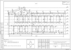 исполнительная схема фасада здания