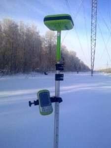 GPS приемник зимой