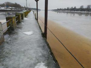 Ледозащита ГЭС Волховская