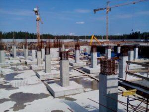 колонны после заливки