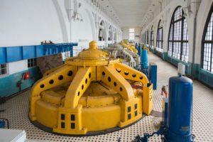 Внутри ГЭС