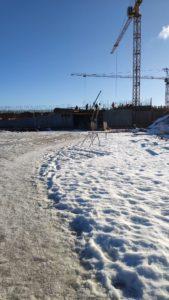 укатанная зимняя дорога